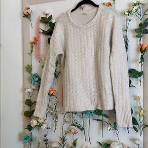 GAP White Knit Sweater